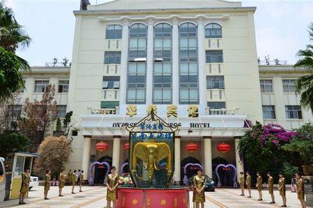宾馆为欧式建筑风格,造型优美